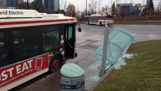 The bus had to be towed after the collision.