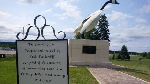 According to a sign in front of the Canada Goose landmark in Wawa, Ont., the metal bird was constructed in 1960, using Algoma Steel products made from iron ore mined by the Algoma Ore Division.