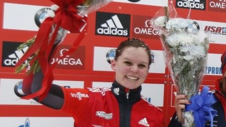 Canada's Elisabeth Vathje wins 1st skeleton World Cup gold