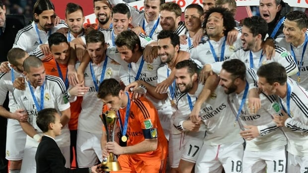 Real Madrid defeated San Lorenzo of Argentina 2-0 to win the Club World Cup and secure their fourth trophy of 2014 on Saturday.