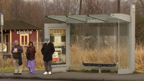 Child abandoned at bus stop