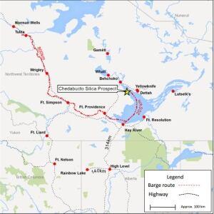 Husky Oil 2015 silica prospect map