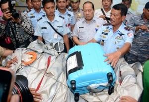 Indonesia Plane wreckage suitcase