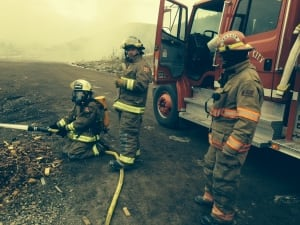 Fire crew at work