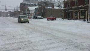 snow in Charlottetown, Jan 4