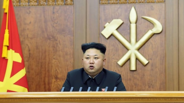 "North Korean leader Kim Jong-un delivers a New Year's address. North Korea says U.S. sanctions show America's ""inveterate repugnancy and hostility toward"" North Korea."