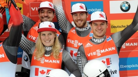Canada takes bronze in team relay at luge World Cup