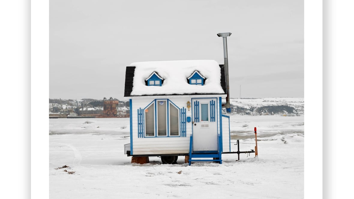 Ice fishing shacks across canada documented by for Ice fishing hut