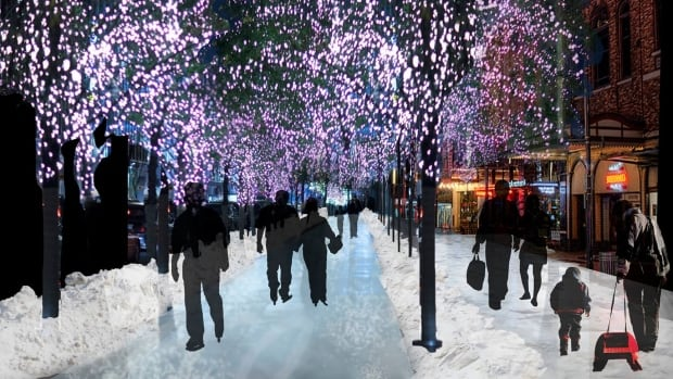 Urban architect Matt Gibbs' award-winning idea would see the city build an 11-kilometre multi-use track around downtown that could be flooded into a rink in the winter.