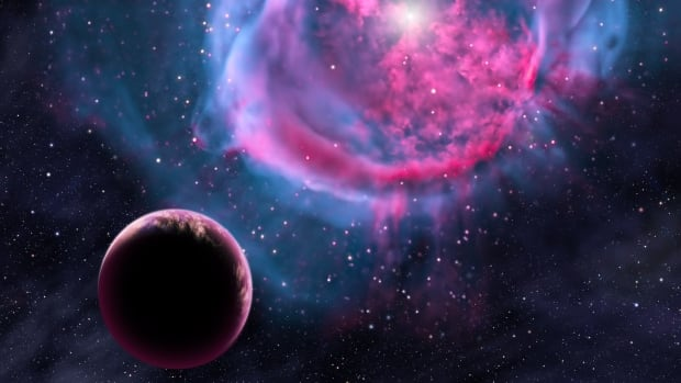 This artist's conception provided by the Harvard-Smithsonian Center for Astrophysics depicts an Earth-like planet orbiting an evolved star. Scientists are finding more and more evidence that the ingredients involved in life are common throughout the universe