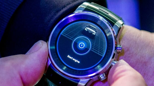 German carmaker Audi unveiled a smartwatch at CES that is connected to your car, one of a slew of devices that will be coming out in the so-called 'Internet of Things' that BlackBerry is trying to be a player in.