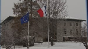 French flag half-mast