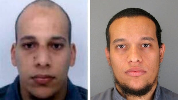 Cherif Kouachi, left, served time in prison after attempting to join militant fighters in Iraq. Far less is known about his older brother Said, right, though both were known to French counterterrorism police.
