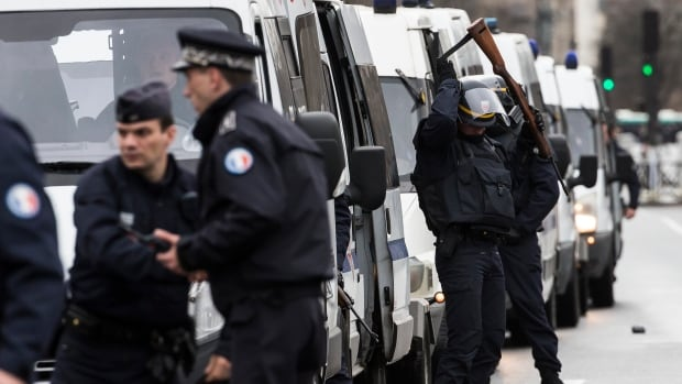 Police established a security perimeter in the east Paris neighbourhood before launching a raid to rescue the hostages inside the kosher supermarket.