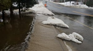 Highway 141 through Rosseau has also flooded