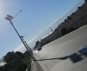 Haiti solar streetlighting