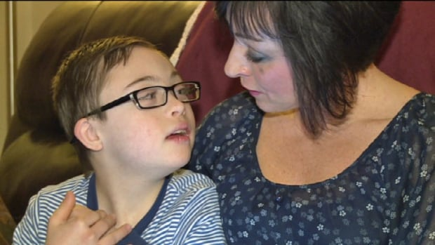 Shelley Simmons MacLeod wants the P.E.I. government to pay for a GPS tracker for her son Tyler, who has Down syndrome and a tendency to wander.