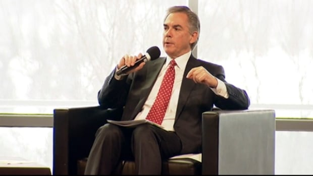 "Premier Jim Prentice says ""everything is on the table"" for solving Alberta's financial woes."