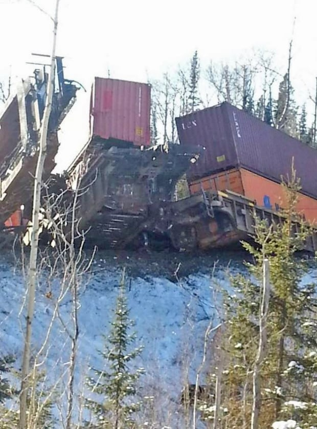 highway 17 reopens to one lane after train derailment