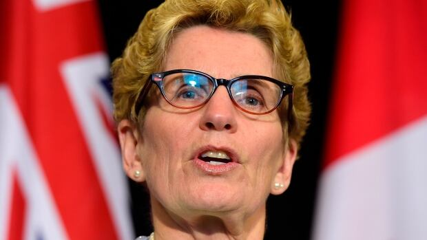 Ontario Premier Kathleen Wynne makes an announcement during a press conference at Queen's Park in Toronto on Tuesday, Jan. 6, 2015. Wynne refused to rule out a carbon tax for Ontario on Wednesday, Jan. 14.
