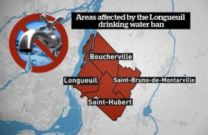 Graphic Longueuil water ban