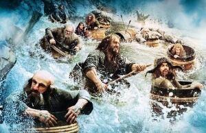 The Hobbit barrel riding scene New Line Cinema