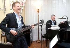 Bryan Adams and Prime Minister Stephen Harper