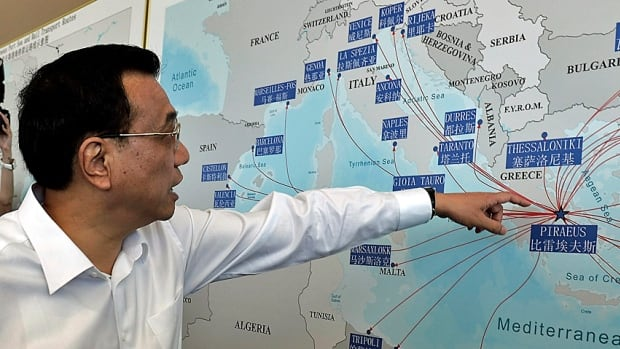 Chinese Premier Li Keqiang visits the Greek port of Piraeus, where Chinese shipping giant Cosco controls two of the three container terminals. China also signalled last year it would buy Greek bonds in a show of support for the financially stricken nation that is at the eastern gateway to Europe.