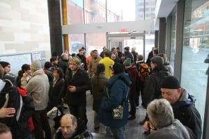 Crowd at MacNab Transit Terminal