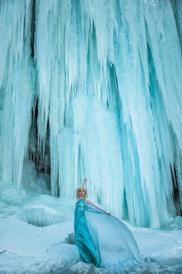 Frozen-inspired photo by Kit Sora