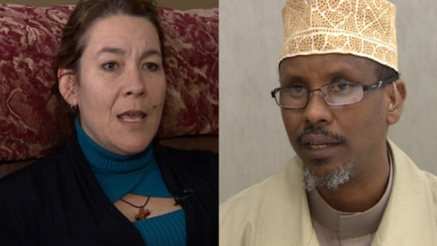Christianne Boudreau (left) and Imam Abdi Hersy (right) say more needs to be done to prevent youths in Canada from becoming radicalized.