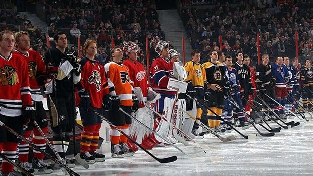 Hockey players dating celebrities