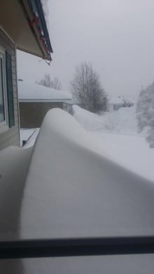Huge snow drifts in Labrador City
