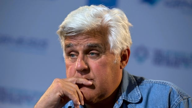 Jay Leno, seen in May 2014, brought up the Hannibal Buress video at the National Association of Television Program Executives on Wednesday, leading to a direct question about the sexual assault allegations against Bill Cosby.
