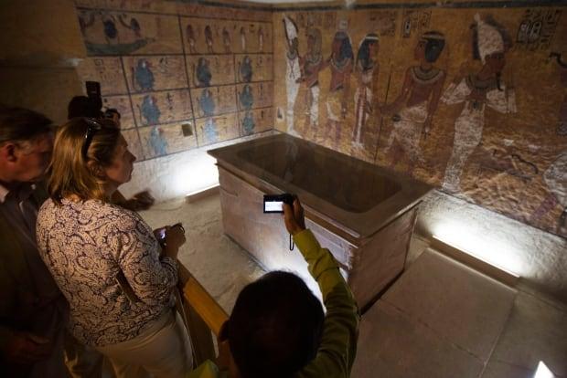 Mideast Egypt King Tut Replica