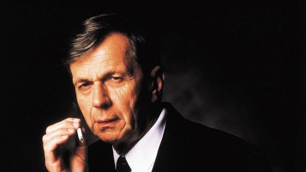 """William B. Davis played """"The Smoking Man"""" in the iconic sci-fi series the X-Files."""