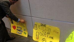 Bus lane signs