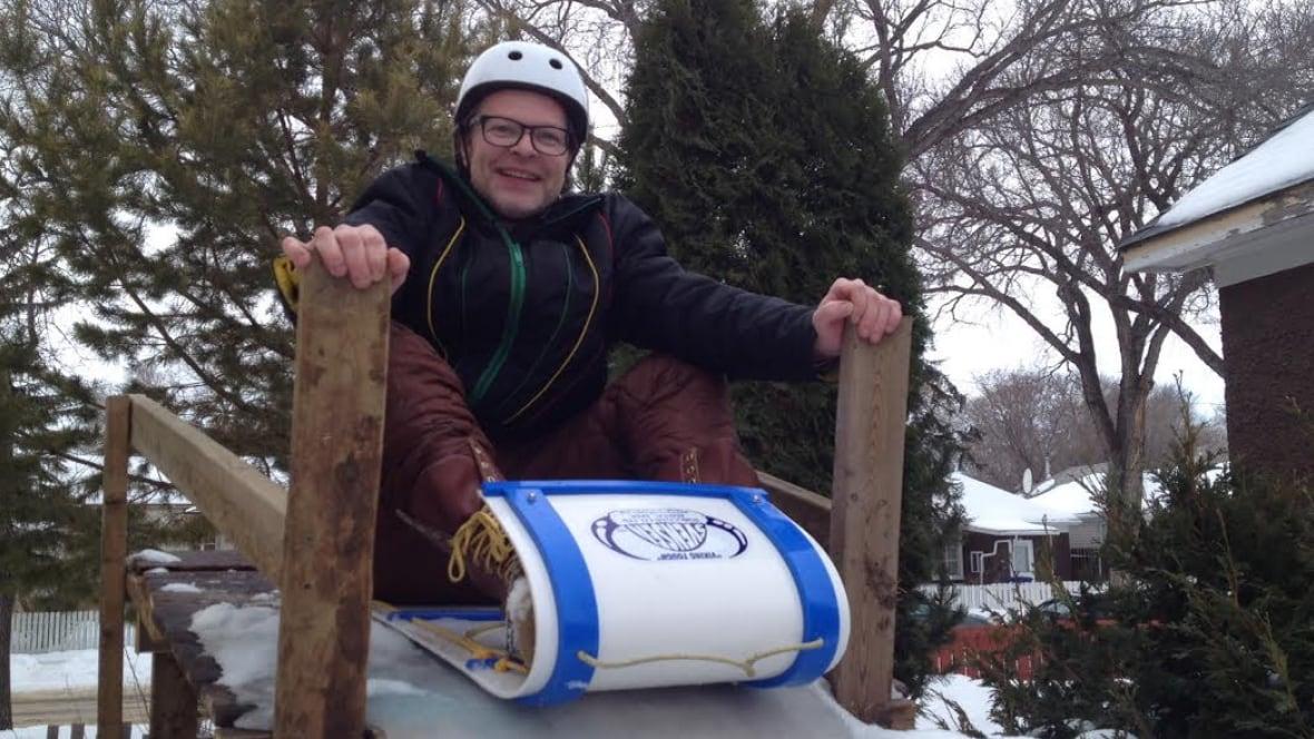mcdaid builds daughter backyard luge track saskatoon cbc news