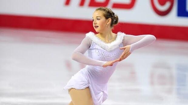 Yukon's Rachel Pettitt skates at the national figure skating championships in Kingston, Ont.