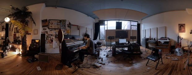Patrick Watson at piano in his studio from Strangers