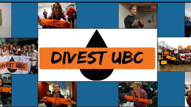 The campaign for divestment at UBC is spearheaded by 'Divest UBC,' with members drawn from faculty, staff and students.