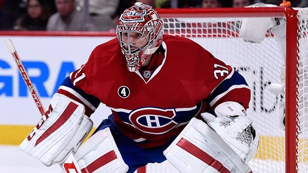 Goalie Carey Price has helped Montreal to a 29-13-3 record this season — best among the seven Canadian-based clubs.