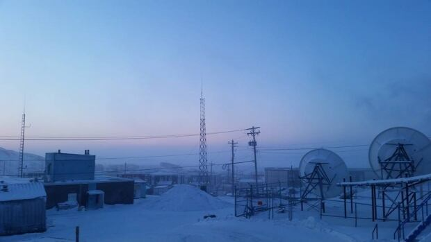 Ice fog over Iqaluit on Monday, Jan. 26. Environment Canada issued extreme cold weather warnings for Iqaluit, Clyde River and Pond Inlet Monday.