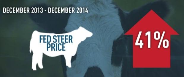 Alberta fed steer price