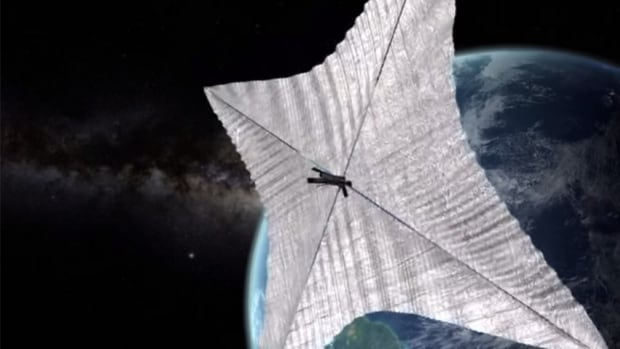 Solar sails are designed to capture the momentum from solar energy photons using large mirrored surfaces.