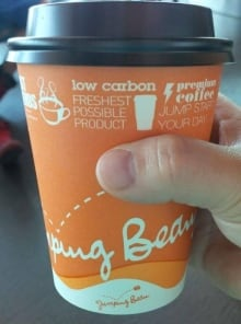 Jumping Bean coffee cup