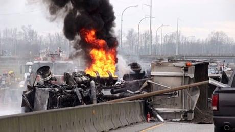 Highway 99 truck fire