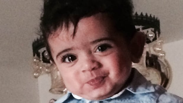 One-year-old Adam Aboushady is living 9,000 km away from his parents as his sponsorship application winds its way through Canada's immigration system.
