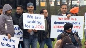 Port Metro Vancouver truckers rally