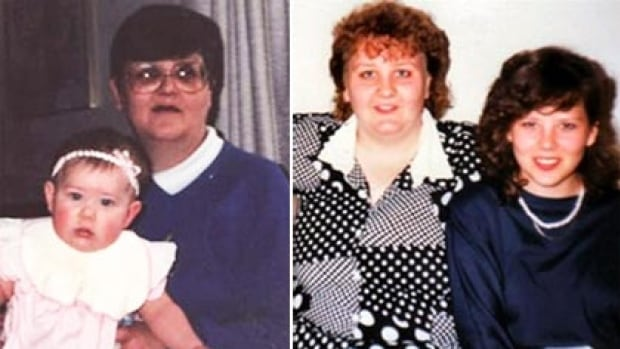 From left to right, Kimberley Dumais, aged seven months, Helga Rochon, 45,  Sherri Rochon, 26,  and Pauline Rochon, 19,  were all killed in the arson attack.